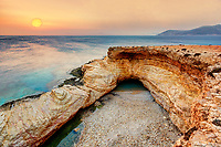 The sunrise at the famous Gala of Koufonissi island in Cyclades, Greece
