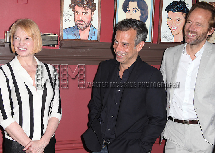 Sardi's unveils Caricatures of 'The Normal Heart' Tony Award Nominees Ellen Barkin, John Benjamin Hickey & Joe Mantello at Sardi's in New York City.
