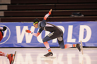 SPEED SKATING: SALT LAKE CITY: 19-11-2015, Utah Olympic Oval, ISU World Cup, training, Alexis Contin (FRA), ©foto Martin de Jong