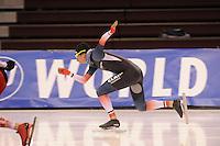 SPEED SKATING: SALT LAKE CITY: 19-11-2015, Utah Olympic Oval, ISU World Cup, training, Alexis Contin (FRA), ©foto Martin de Jong