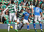 Celtic v St Johnstone...29.08.15  SPFL   Celtic Park<br /> Emilio Izaguirre and Michael O'Halloran<br /> Picture by Graeme Hart.<br /> Copyright Perthshire Picture Agency<br /> Tel: 01738 623350  Mobile: 07990 594431