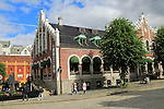 Historic former market building, Torget market square area of Vagen harbour, Bergen, Norway