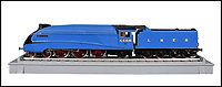 BNPS.co.uk (01202 558833)<br /> Pic:  BraybrookCollection/BNPS<br /> <br /> 'Mallard' <br /> <br /> A late aristocrat's prized collection of model trains has sold for £244,000.<br /> <br /> Lord Braybrooke set up a miniature garden railway 55 years ago in the grounds of his stately home at Audley End House in Saffron Walden, Essex.<br /> <br /> He died in 2017 and his family parted with nine of his locomotives to raise funds to improve the railway's facilities so it can keep running for future generations.