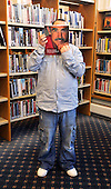Shettleston Library - Glasgow - Richie Hannah (a library employee) - picture by Donald MacLeod -27.02.13 - 07702 319 738 - clanmacleod@btinternet.com - www.donald-macleod.com