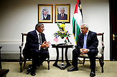 Secretary of Defense Leon Panetta meets with President Mahmoud Abbas of the Palestinian Authority in Ramallah in the West Bank, October 3, 2011. .Mandatory Credit: Jacob N. Bailey / USAF via CNP