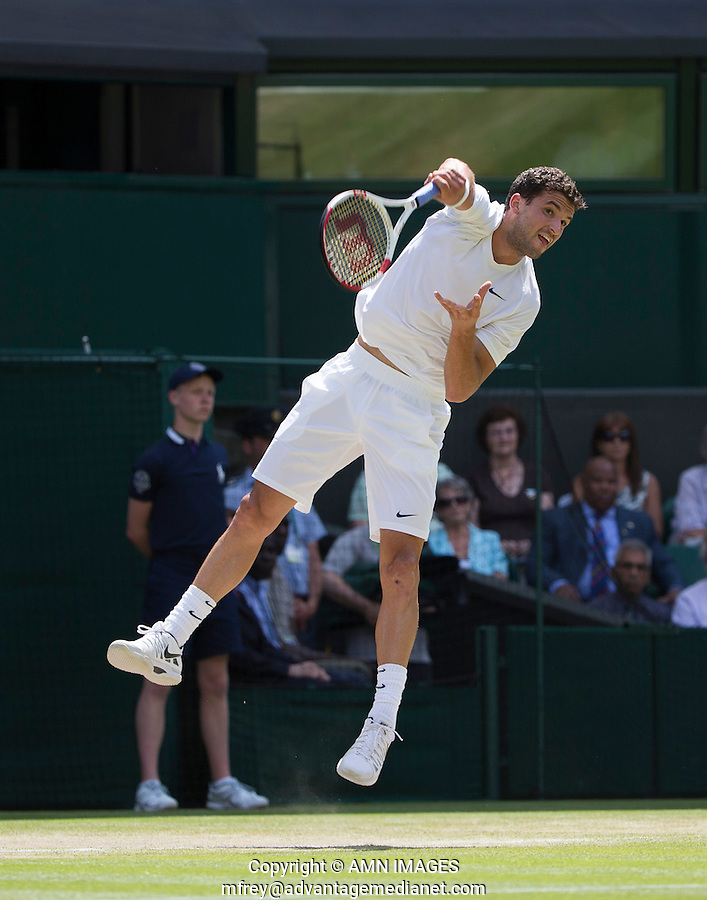 GRIGOR DIMITROV (BUL)<br /> <br /> The Championships Wimbledon 2014 - The All England Lawn Tennis Club -  London - UK -  ATP - ITF - WTA-2014  - Grand Slam - Great Britain -  2nd July 2014. <br /> <br /> &copy; AMN IMAGES