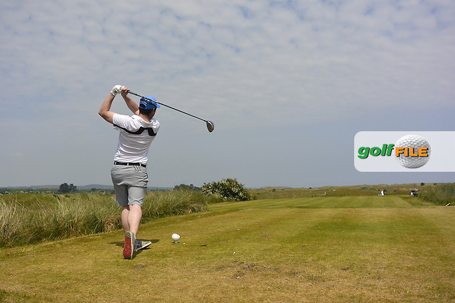 Eoin Arthurs (Forrest Little) on the 8th tee during Round 1 of the East of Ireland Amateur Open Championship sponsored by City North Hotel at Co. Louth Golf club in Baltray on Saturday 4th June 2016.<br /> Photo by: Golffile | Thos Caffrey