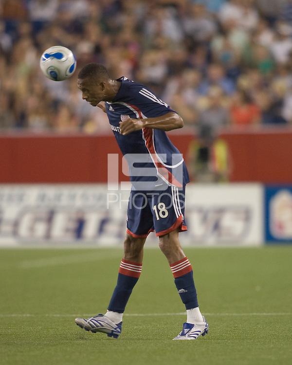 New England Revolution forward (18) Khano Smith. New England Revolution defeated the Los Angeles Galaxy, 1-0,  at Gillette Stadium on August 12, 2007.