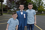 Kyle Ray Rodgers Calum McDonnell Rodgers and Brandon Ray Rodgers at first communion in Holy Family church.<br /> Picture www.newsfile.ie
