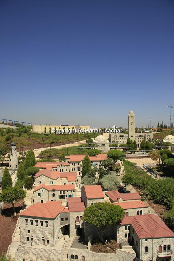 Israel, Shephelah. A model of Jerusalem in Mini Israel park