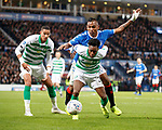 08.11.2019 League Cup Final, Rangers v Celtic: Alfredo Morelos with Jeremie Frimpong and Christopher Jullien