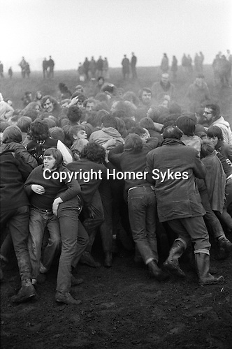 Haxey Hood Game. Haxey Lincolnshire. England 1972.The Sway. Annually in January.