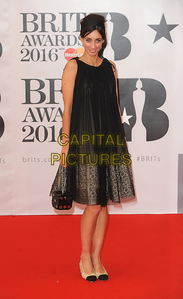 LONDON, ENGLAND - FEBRUARY 24: Laura Jackson attends the Brit Awards 2016 at The O2 Arena in London on February 24, 2016 in London, England.<br /> CAP/BEL<br /> &copy;Tom Belcher/Capital Pictures