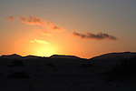 Sand dunes at sun rise, Corralejo, Fuerteventura, Canary Islands, Spain.