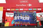 FDJ Nouvelle-Aquitaine Futuroscope at sign on before the start of Stage 2 of the Ceratizit Madrid Challenge by La Vuelta 2019 running 98.6km around Madrid, Spain. 15th September 2019.<br /> Picture: Luis Angel Gomez/Photogomezsport | Cyclefile<br /> <br /> All photos usage must carry mandatory copyright credit (© Cyclefile | Luis Angel Gomez/Photogomezsport)