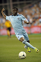 Sporting midfielder Peterson Joseph (19) in action..Sporting Kansas City defeated Colorado Rapids 2-0 in Open Cup play at LIVESTRONG Sporting Park, Kansas City, Kansas.