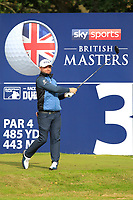 Andy Sullivan (ENG) on the 3rd tee during Round 2 of the Sky Sports British Masters at Walton Heath Golf Club in Tadworth, Surrey, England on Friday 12th Oct 2018.<br /> Picture:  Thos Caffrey | Golffile<br /> <br /> All photo usage must carry mandatory copyright credit (&copy; Golffile | Thos Caffrey)