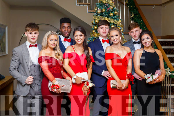Attending the CBS Debs in the Ballyroe Heights Hotel on Friday last, are l-r, Evan Lowham (Tralee), Niamh O'Sullivan (Ballyduff), Kevin Williams (Tralee), Nela Budayova (Tralee), Darrion Hurley (Tralee), Vilte Gaidelyte (Tralee), Cian Canavan (Tralee) and Ava McCarthy (Tralee).