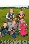 Lixnaw Vintage Rally: Attending  the Lixnaw Vintage Rally and Dog Show on Sunday were Anthony Kavanagh, Ballyduff, Katelyn O'Connor with Lucey, Ballyduff, & Emily O'Rourkewith Buster, Ballyduff...Back : Emma O, Connor with Rosie, Ballyduff, & Dillon Robinson with Jimmy, Lixnaw.