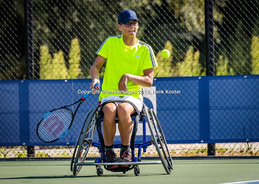 Amstelveen, Netherlands, 19 Augustus, 2020, National Tennis Center, NTC, NKR, National Junior Wheelchair Tennis Championships, Ivar van Rijt (NED)<br /> Photo: Henk Koster/tennisimages.com