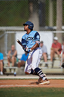 Rece Hinds during the WWBA World Championship at the Roger Dean Complex on October 20, 2018 in Jupiter, Florida.  Rece Hinds is a shortstop from Niceville, Florida who attends IMG Academy and is committed to Louisiana State.  (Mike Janes/Four Seam Images)