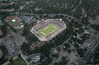 16 September 2006: An aerial photograph of the new Stanford Stadium during Stanford's 34-9 loss against the Navy Midshipmen at Stanford Stadium in Stanford, CA. The game was the first to take place at the new Stanford Stadium, a 90-million dollar construction project that only took 10 months to complete.
