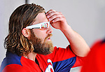 10 March 2012: Washington Nationals' outfielder Jayson Werth sits in the dugout during a game against the New York Mets at Space Coast Stadium in Viera, Florida. The Nationals defeated the Mets 8-2 in Grapefruit League play. Mandatory Credit: Ed Wolfstein Photo