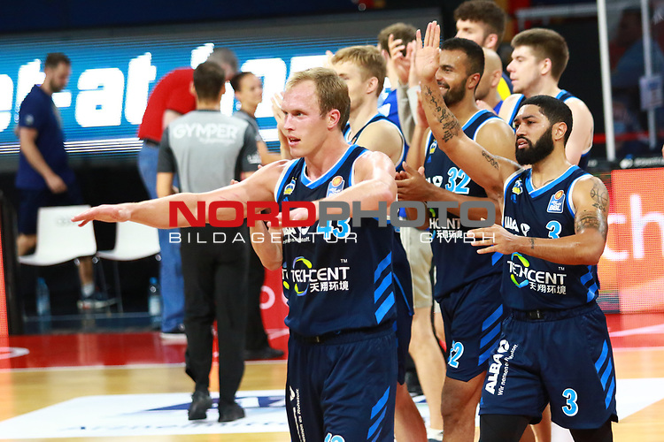 Schlussjubel Jubel  Alba Berlin <br /> <br /> <br /> Basketball Finalturnier 2020, nph0001: Halbfinale Spiel 1  <br /> 22.06.2020<br /> <br /> FOTO: Mladen Lackovic / LakoPress /Pool / nordphoto<br /> <br /> Nur für journalistische Zwecke! Only for editorial use! <br /> No commercial usage!