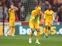Preston North End's Callum Robinson reacts  to loosing<br /> <br /> Photographer Mick Walker/CameraSport<br /> <br /> The EFL Sky Bet Championship - Sheffield United v Preston North End - Saturday 22 September 2018 - Bramall Lane - Sheffield<br /> <br /> World Copyright © 2018 CameraSport. All rights reserved. 43 Linden Ave. Countesthorpe. Leicester. England. LE8 5PG - Tel: +44 (0) 116 277 4147 - admin@camerasport.com - www.camerasport.com