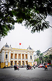 VIETNAM, Hanoi, people riding motorcycles in front of the Opera House
