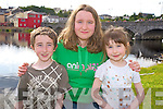 Enjoying the Astellas raft race in Killorglin on Friday evening were Padraic, Aisling and Aine Brennan, Glenbeigh.