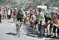 Thomas Voeckler (FRA/Europcar) up the Col du Tourmalet (HC/2115m/17km/7.3%)<br /> <br /> st11: Pau - Cauterets (188km)<br /> 2015 Tour de France