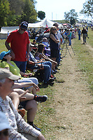 NWA Democrat-Gazette/ANDY SHUPE<br /> A large crowd gathers Saturday, Sept. 26, 2015, to watch a re-enactment of the Civil War Battle of Pea Ridge in Pea Ridge. Visit nwadg.com/photos to see more from the weekend.