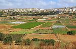 Fertile farm land in Pwales valley, St Paul's Bay, Ghajn Tuffieha, Malta