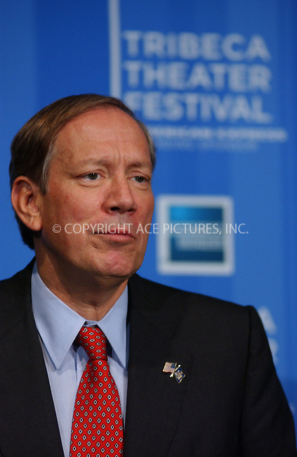 WWW.ACEPIXS.COM . . . . . ..NEW YORK, OCTOBER 13, 2004: NEW YORK STATE GOVERNOR GEORGE PATAKI AT THE PRESS CONFERENCE ANNOUNCING FIRST FRIBECA THEATER FESTIVAL. Please byline: DAISY STONE - ACE PICTURES.. . . . . . ..Ace Pictures, Inc:  ..Alecsey Boldeskul (646) 267-6913 ..Philip Vaughan (646) 769-0430..e-mail: info@acepixs.com..web: http://www.acepixs.com
