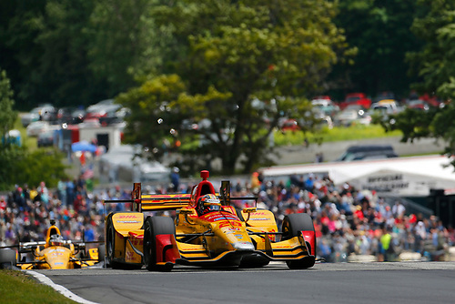 Verizon IndyCar Series<br /> Kohler Grand Prix<br /> Road America, Elkhart Lake, WI USA<br /> Sunday 25 June 2017<br /> Ryan Hunter-Reay, Andretti Autosport Honda<br /> World Copyright: Phillip Abbott<br /> LAT Images<br /> ref: Digital Image abbott_elkhart_0617_9176