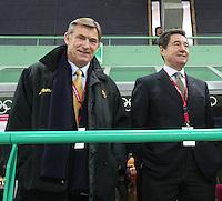 SPEED SKATING: HAMAR: 2009, Jan Dijkema en Ottavio Cinquanta, Jan Dijkema nieuwe voorzitter Internationale schaatsunie ISU, ©foto Martin de Jong