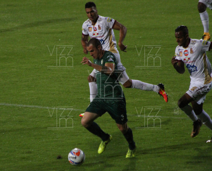 BOGOTA - COLOMBIA - 19 - 11 - 2017:Equidad y Deportes Tolima en partido por la fecha 20 de la Liga Aguila II 2017 jugado en el estadio Metroplitano de Techo de la ciudad de Bogota. / Equidad and Depores Tolima in match for the date 20 of the Liga Aguila II 2017 played at the Metropolitano de Techo Stadium in Bogota city, Photo: VizzorImage  /Felipe Caicedo / Staff.