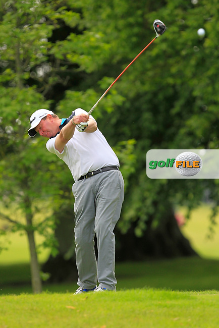 Eddie Doyle (The Eddie Doyle Golf Academy) on the 2nd tee during Round 2 of the Titleist &amp; Footjoy PGA Professional Championship at Luttrellstown Castle Golf &amp; Country Club on Wednesday 14th June 2017.<br /> Photo: Golffile / Thos Caffrey.<br /> <br /> All photo usage must carry mandatory copyright credit     (&copy; Golffile | Thos Caffrey)