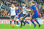 Daniel Parejo Munoz of Valencia CF runs with the ball during the La Liga 2017-18 match between Valencia CF and FC Barcelona at Estadio de Mestalla on November 26 2017 in Valencia, Spain. Photo by Maria Jose Segovia Carmona / Power Sport Images