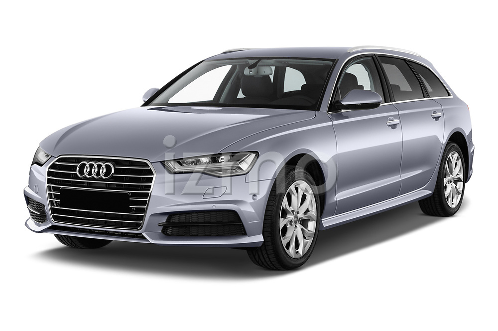 2018 Audi A6 Avant Business Edition 5 Door Wagon angular front stock photos of front three quarter view