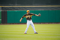 Grant Green (7) of the Salt Lake Bees between innings against the Colorado Springs Sky Sox in Pacific Coast League action at Smith's Ballpark on May 24, 2015 in Salt Lake City, Utah.  (Stephen Smith/Four Seam Images)