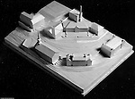 Pittsburgh PA:  View of a wooden model of the proposed changes to the Pennsylvania College for Women's campus, now Chatham University.  Ingham, Boyd and Pratt Architect's various designs were submitted from 1948 through 1952 with construction starting in 1953. Pennsylvania College for Women was renamed Chatham College in 1955.