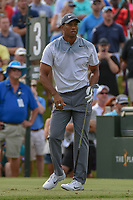 Tiger Woods (USA) watches his tee shot on 3 during round 3 of The Players Championship, TPC Sawgrass, at Ponte Vedra, Florida, USA. 5/12/2018.<br /> Picture: Golffile | Ken Murray<br /> <br /> <br /> All photo usage must carry mandatory copyright credit (&copy; Golffile | Ken Murray)