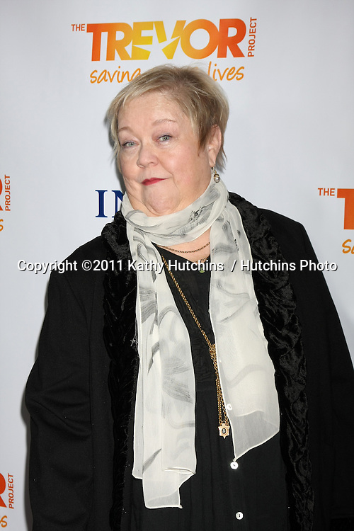 "LOS ANGELES - DEC 4:  Kathy Kinney arrives at ""The Trevor Project's 2011 Trevor Live!"" at Hollywood Palladium on December 4, 2011 in Los Angeles, CA"