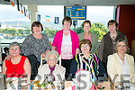 ICA Group front l-r Ann Quall, Moira Kelleher, Noreen Walsh, Helen Canty Back l-r Mary Sheehan, Mary Murphy, Eileen Carroll  and Joan O'Connell enjoying a night out at the dogs at the Kingdom Greyhound Stadium on Friday