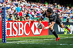 Samoa vs New Zealand during the HSBC Sevens Wold Series Cup Semi Finals match as part of the Cathay Pacific / HSBC Hong Kong Sevens at the Hong Kong Stadium on 29 March 2015 in Hong Kong, China. Photo by Victor Fraile / Power Sport Images