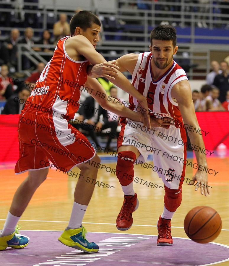Kosarka ABA League season 2013-2014<br /> Crvena Zvezda v Radnicki (Kragujevac)<br /> Aleksandar Svetkovic (R)<br /> Beograd, 12.10.2013.<br /> foto: Srdjan Stevanovic/Starsportphoto &copy;