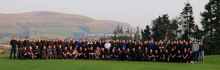 Scott Fenwick, Steve Chappell, Gleneagles Greenkeepers and volunteers ahead of the 2014 Ryder Cup The 40th Ryder Cup is being played over the PGA Centenary Course at The Gleneagles Hotel, Perthshire from 26th to 28th September 2014.: Picture Fran Caffrey, www.golffile.ie: \21-Sep-14\