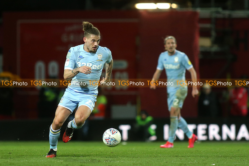 Kalvin Phillips of Leeds United in action during Brentford vs Leeds United, Sky Bet EFL Championship Football at Griffin Park on 11th February 2020